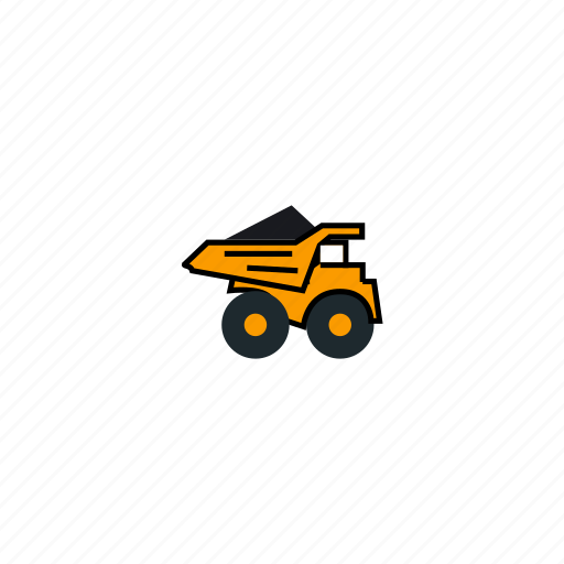 car, load, loaded truck, mining, truck icon