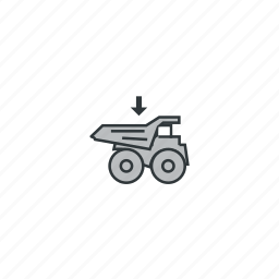 car, load, load to truck, load truck, loading, mining, truck icon