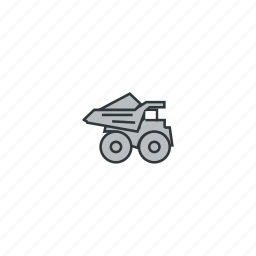car, load, loaded truck, mining, truck, truck right icon