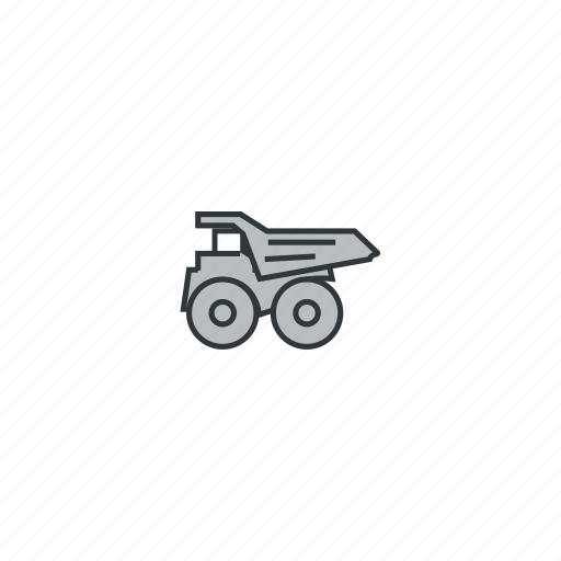 car, mining, truck, truck left icon