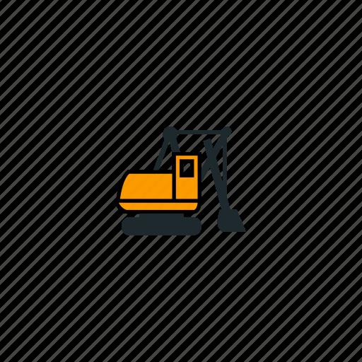 car, dig, equipment, excavator, mining icon