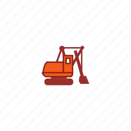 car, dig, equipment, excavator, mining icon
