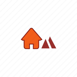 camp, home, house, mining, resort, warehouse icon