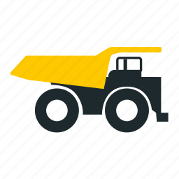 car, mining, truck, truck right icon