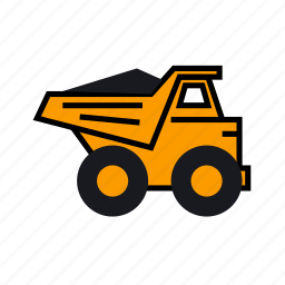 car, load, load truck, loaded truck, mining, truck, truck right icon