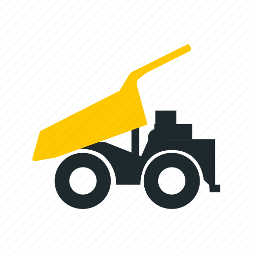 discharging, mining, truck, unloading, unloading truck icon