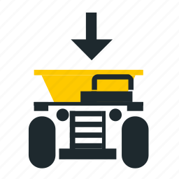 load to truck, loading, mining, truck, truck front icon