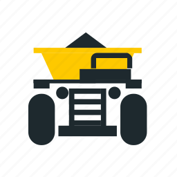 car, load truck, load truck front, loaded truck, mining, trick front, truck icon