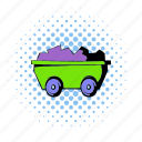 asset, comics, design, halftone, ore, tool, trolley icon