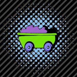 asset, comics, design, halftone, ore, tool, trolley icon