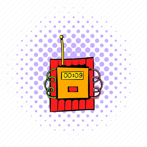 comics, design, dynamite, fuse, halftone, purple, red icon