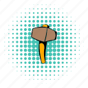comics, halftone, hammer, metal, mine, ore, sledgehammer icon