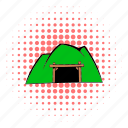 comics, design, halftone, living pictogram, mine, mountain, pink icon