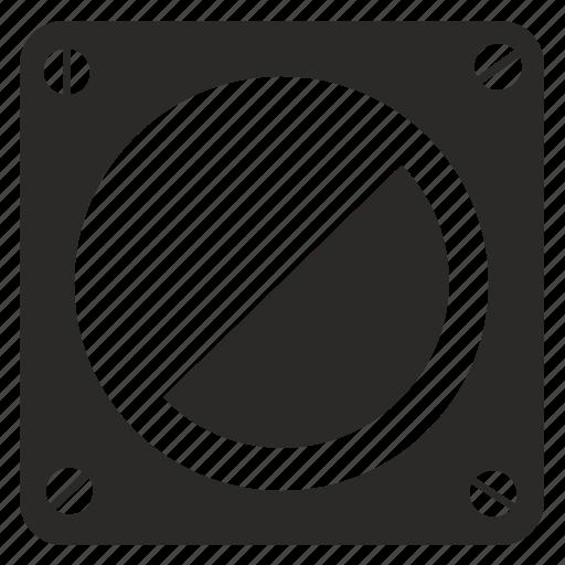 glass, mirror, round, technical icon