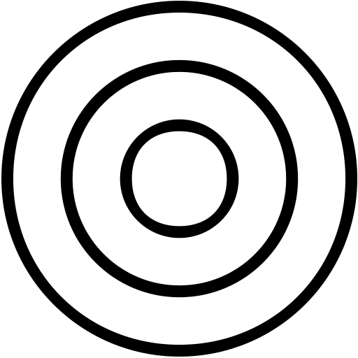 aim, bullseye, circle, goal, target icon
