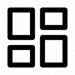 column, grid, layout icon