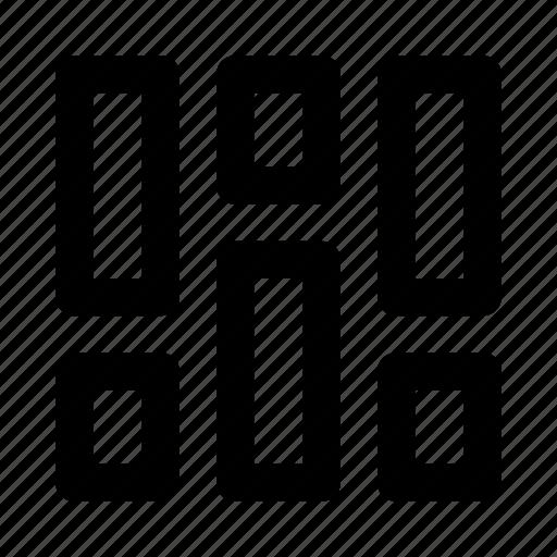 column, design, grid, layout icon