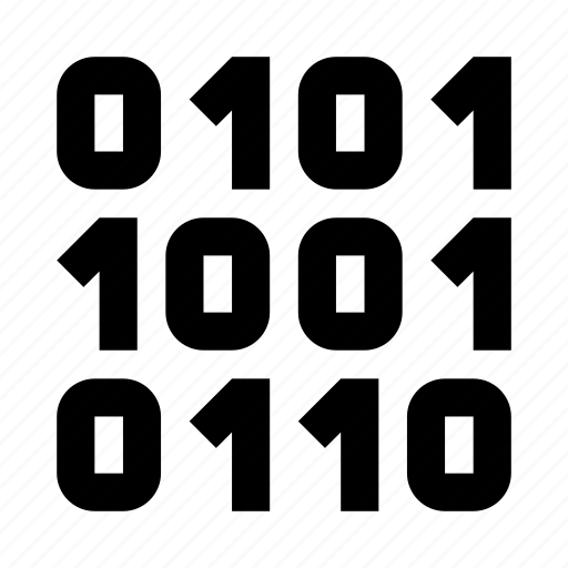 binary, code, coding, digital, file icon