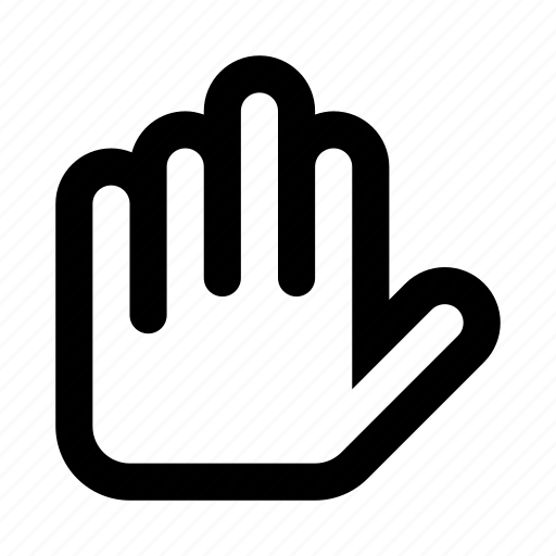finger, gesture, hand, interaction, touch icon