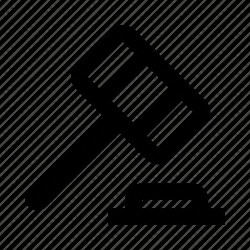 court, hammer, law icon