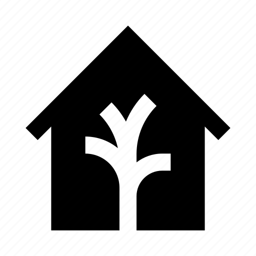 building, construction, estate, house, real, tree icon