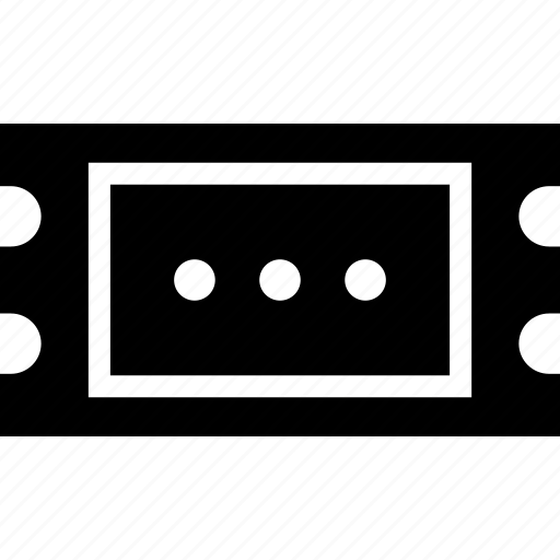 docket, event, paper, receipt, ticket icon