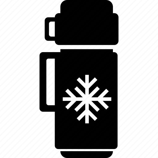 cold, cup, flask, thermo, water icon