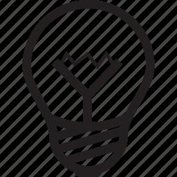 bulb, creative, idea, light, lightbulb icon