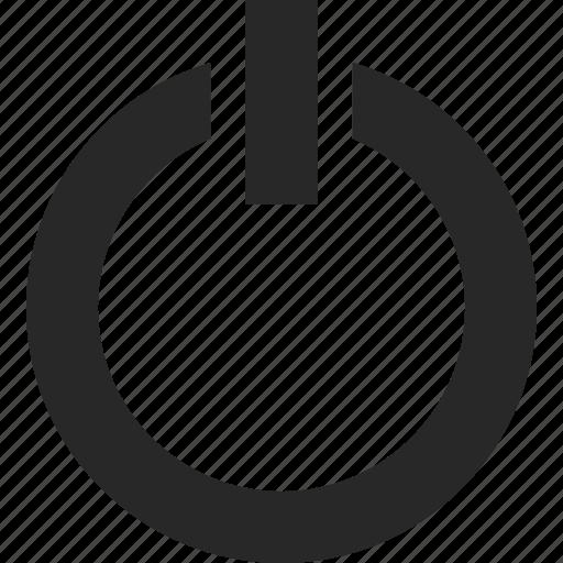 button, off, power, start, switch, turn icon