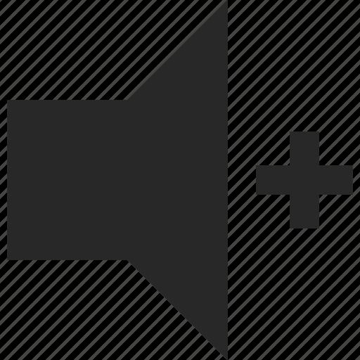 audio, sound, speaker, up, volume icon