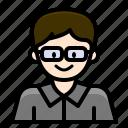 avatar, businessman, man, officer, student, user