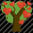 love, relationship, romance, sharing, tree, valentine icon