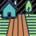 farm, farmer, farming, farmland, field, ground, land icon
