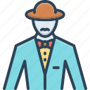 boss, costume, dan, esquire, gentleman, male, mynheer icon
