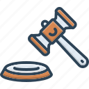 authority, hammer, judgement, lawsuit, legal action, litigation, proceedings icon