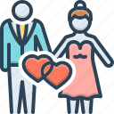 splice, couple, matrimony, wedlock, marriage, nuptials, wedding icon
