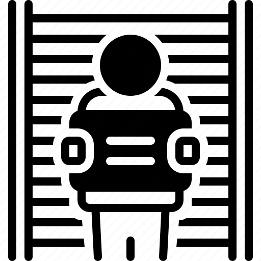 Appellant, defendant, jail, litigant, prisoner, respondent, suspect icon - Download on Iconfinder