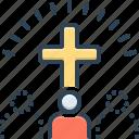 belief, cross, faith, homage, mythology, trust, worship