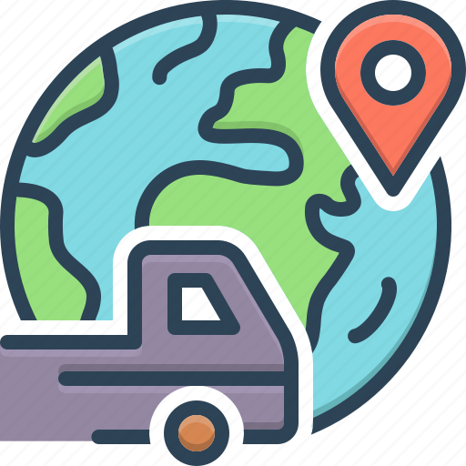 Carriage, conveyance, elsewhere, otherwhere, shipment, somewhere, vehicle icon - Download on Iconfinder