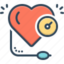 arterial, blood, heart, high, machine, pressure, speedometer