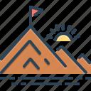 braid, hill, mountain, peak, pinnacle, vertex, winner