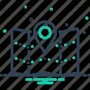 area of land, gps, jurisdiction, navigation, region, territory, zone icon