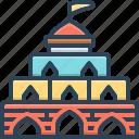 architecture, building, castle, century, citadel, fort icon