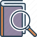 definition, interpretation, magnifying, magnifying glass, meaning, sense icon