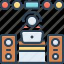 concert, dj, keeper, manipulator, music, operator, sound system icon