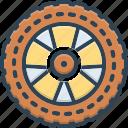 chalk, chuck, circle, cycle, wheel, while icon