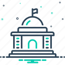 architecture, buildingcapitol, courthouse, embassy, government, polity, state icon