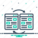attach, connect, hyperlink, link, linkage, redirect, separation icon