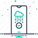cloud, confirm, ensure, establish, make sure, protect, safeguard icon