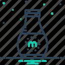 beverage, bottle, breakfast, calcium, energy, fresh, milk icon